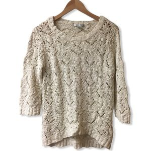 WD.NY Knit sweater ¾ length sleeves cream
